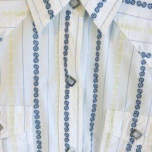 Wester Roper Dress Shirt Snap Pearl Diamond Button
